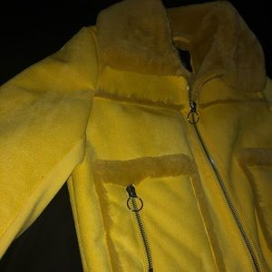 Other - Yellow Sherling coat